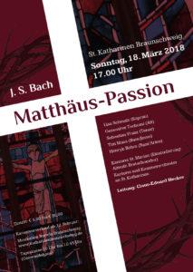 Johann S. Bach: Matthäus-Passion @ St. Katharinen | Braunschweig | Niedersachsen | Deutschland
